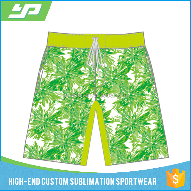 2017 factory OEM sublimation printing mens swimwear / beach / board shorts