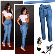 B10267A New fashion Lady loose leg big size denim Jeans hot sale jeans
