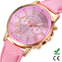 2016 SWIDU hign quality fashion dress ladies leather wrist watch simple style watches for girls