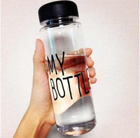 450ml Fashion Portable Clear Sport Borosilicate Glass Water Bottle