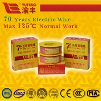 70 years long life co-extruded irradiated no smoke halogen free electric wire electrical wire and cable