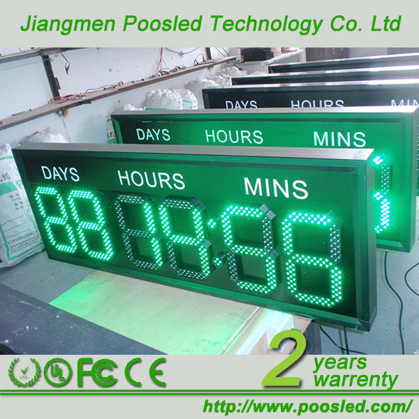 2 digit led display countdown timer \ clock countdown billboard sign \ clock countdown for sale board