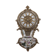 Luxury Antique Crafts Bronze Porcelain wall Clock For Home Decoration