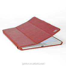For iPad 6 air 2 genuine leather smart case with foldable cover