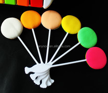 Candy Shape Cosmetic Sponge Powder Puff Stick With Long Handle