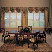 Curtain times Motorized Vertical Shangri-La Blinds with remote control and electronic limit set