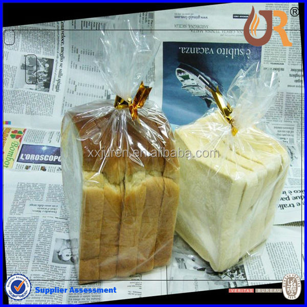 BOPP printed plastic bread bags clear plastic packaging bag