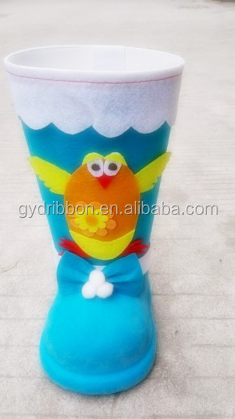 Plastic Boots With Birds Pattern as Japanese Easter Party Decoration/Foam boots with birds pattern for easter decoration