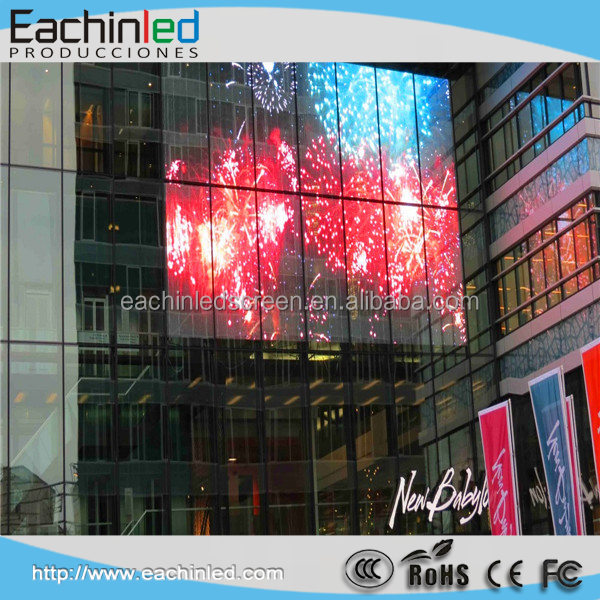Outdoor high brightness transparent led mesh screen flexible/soft curtain/glass wall screen / transparent screen