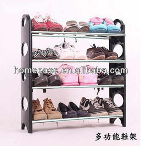 HEJF602Folding 4 tier stable iron shoe rack