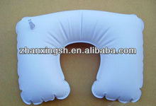 Lovely Shaped Compact PVC Travel Inflatable Beach Pillow/Inflatable Jumping Pillow