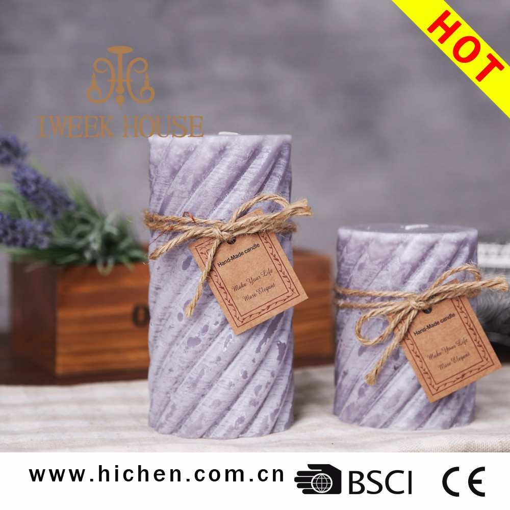Black Color Real Paraffin Wax High Quality Pillar Candle