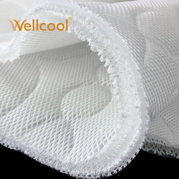 airflow 3d polyester white circle mattress cover polyester knitted fabric