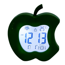 PN-1072TC Clock For Christmas Gifts, Kids Cartoon Apple Shape Clock, Table Clocks for Kids
