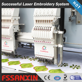 SXH920 9 Needle 20 heads laser cutting embroidery machine for garments