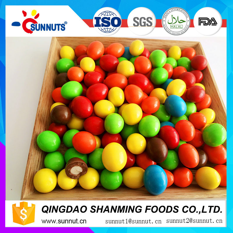 Bulk Chocolate candy China manufacturer chocolate coated peanut