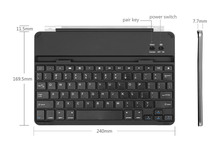 Bluetooth ABS Keyboard Aluminum Case Cover With Build-In Stand For Samsung Galaxy Note 10.1