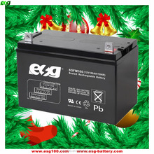 Manufacturer deep cycle battery 12V 100ah ups battery for solar system