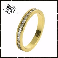 Fancy 14K Yellow Gold Plated Eternity Band