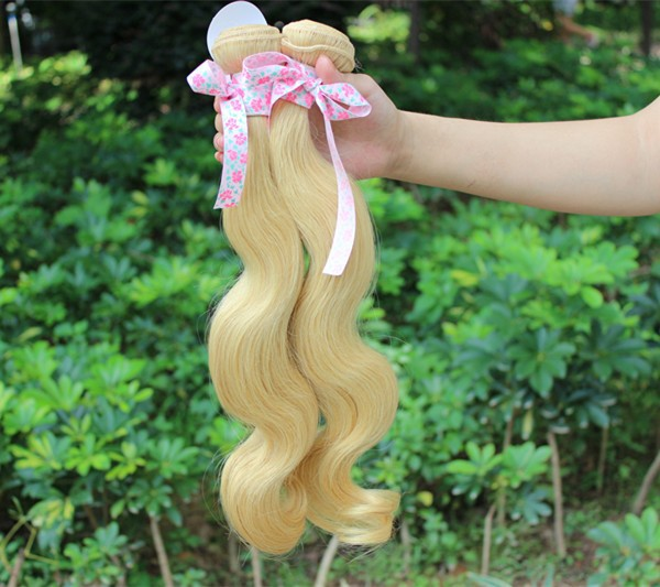 Wholesale virgin hair,Factory 6A grade russian Blonde virgin hair extensions