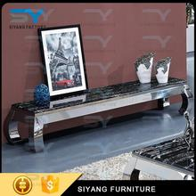 New design living funiture model style stainless steel led tv stand