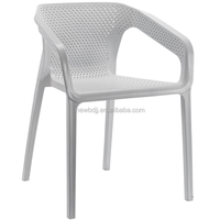 PP stackable outdoor white plastic chair from China factory