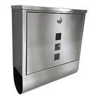 Stainless Steel Waterproof Post Box Wall Mount Mailbox Cabinet Letter Box