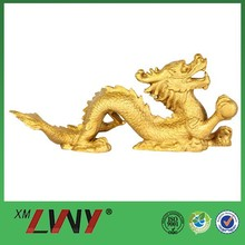 2015 New special gift golden chinese dragon sculpture