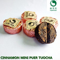 compressed cinnamon puerh mini tuocha tea, puer tea