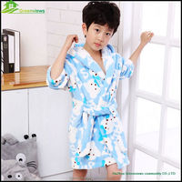 Wholesale cute hooded terry kids polyester cotton bathrobe cute kid animal hotel bathrobe GVGZ0006