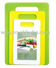 Colored Chopping Blocks Plastic Cutting Board Set