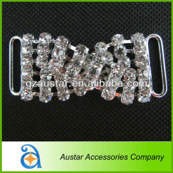 Clear Crystal Rhinestone Connector For Bikini Swimwear