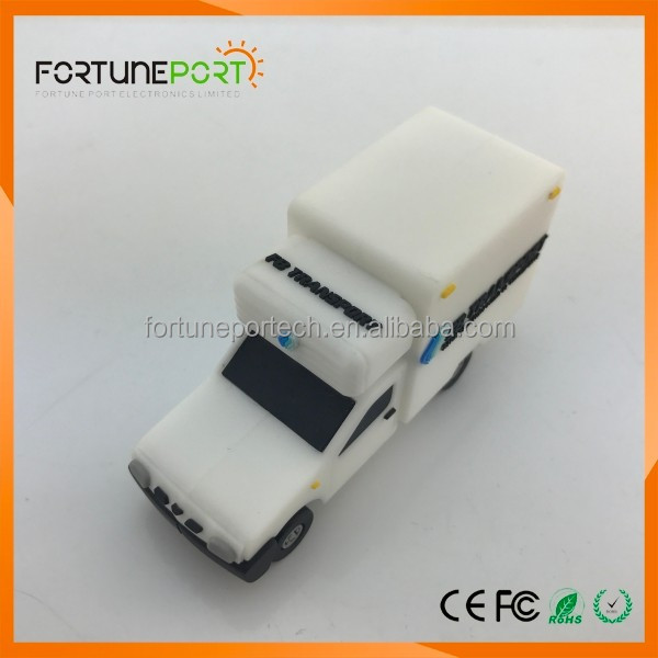 1gb/2gb/4gb/8gb custom 3D ambulance car usb key pendrive with logo printing