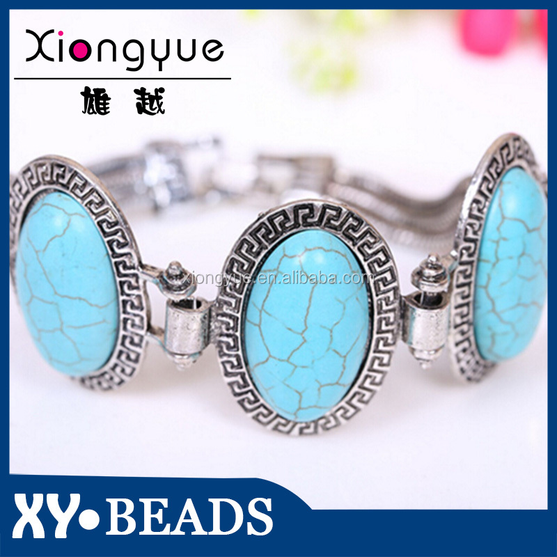 2015 New Fashion sliver Jewellery , women Natural Stone Bracelet