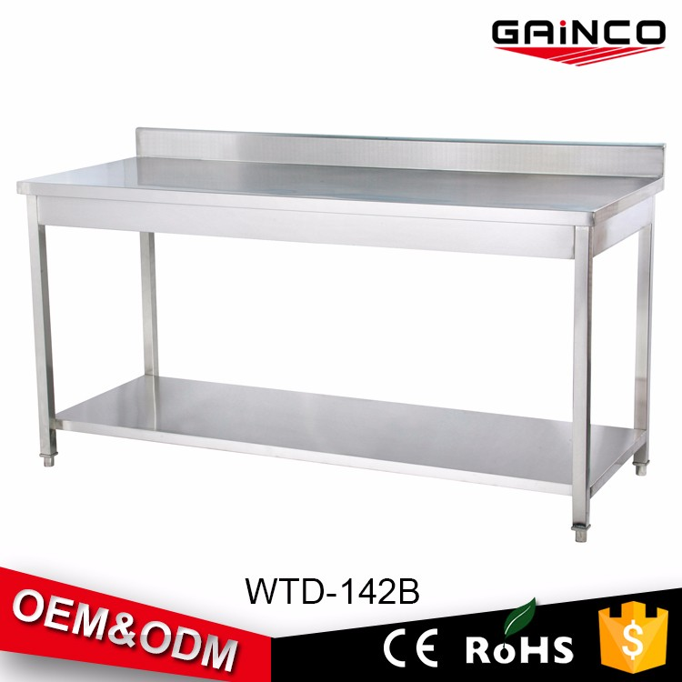 Stainless Steel Work Table Reinforced Frame Resturant & Catering Kitchen Work Table WTD-142B