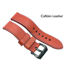 Brown Genuine calfskin leather watch strap/watch bands/watch chain