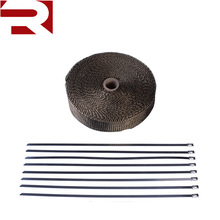 New Titanium Roll Fiberglass Cloth Exhaust Header Pipe Insulating Heat Wrap