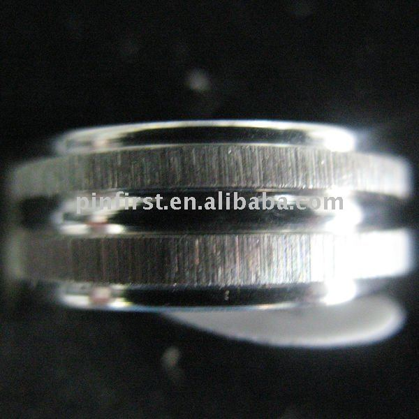Lot 360 pcs 2 Stripes Silver Stainless Steel Rings