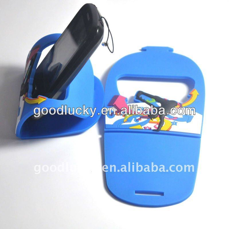 2012 the best christmas gift soft pvc mobile phone shoulder holder