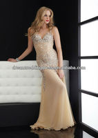 New Design Heavy Beaded Chiffon Formal Long Evening Dress Fashion 2012