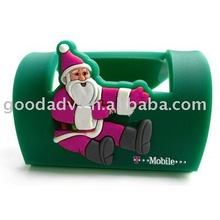 Christmas gifts soft pvc mobile phone stand / mobile phone holders