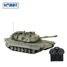 Desert Dirty Version U.S Military M1A2 Vintage Plastic R/C Model Tank Powerful To Run Outdoor
