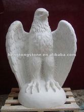 White Marble Bird Sculpture Of Eagle