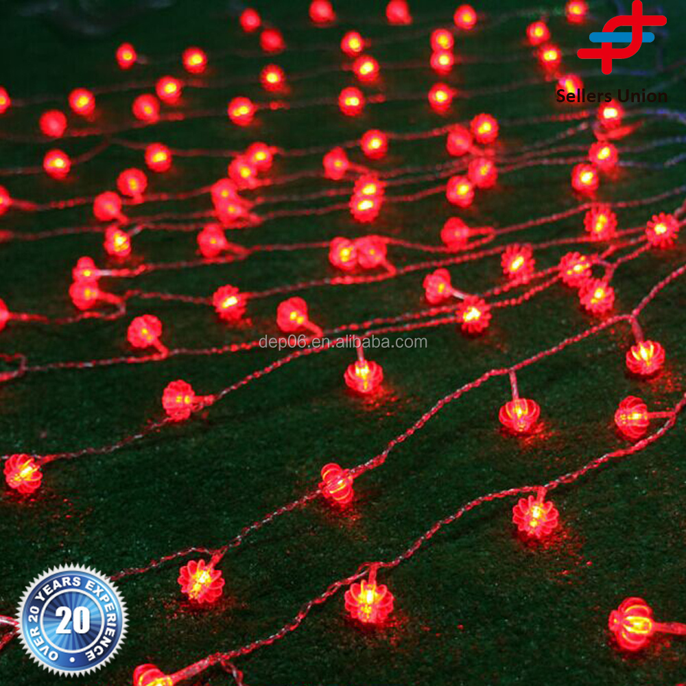 4M chinese red lantern LED String Decoration Light curtain lights for weddings LED String Fairy Lights