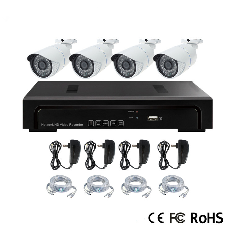 Cheap cctv security camera 2mp ip camera nvr kits with motion detection