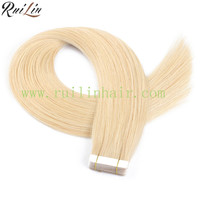 100% quality short wavy human hair extension at Wholesale price Tape in grade 8a