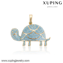 33089 Turquoise fashion wholesale jewelry lovely elephant new design gold pendant for ladies