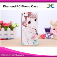 Cell phone accessory ultrathin clear crystal PC phone case for iphone 6 6plus
