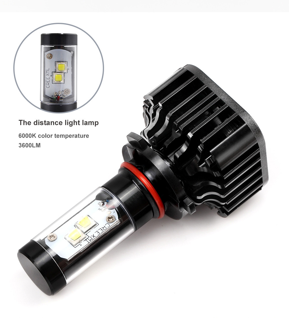 HL-K8-H4 Auto LED Chip 120W Car Headlight Lamps 4H Bulbs 360 Degree Car Light Source Headlight