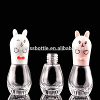 2015 New wholesale all cute animal shape colorful nail art design glass enamel bottles